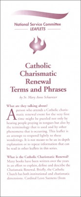 Catholic Charismatic Renewal Terms and Phrases