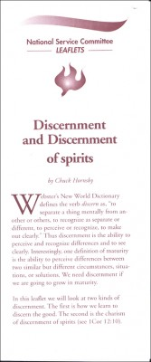 Discernment and Discernment of Spirits