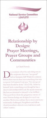 Relationship by Design: Prayer Meetings, Prayer Groups and Communities