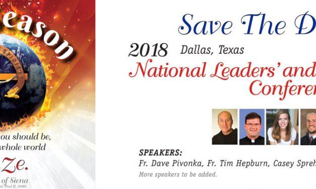 2018 National Leaders' and Ministries' Conference – Save the Date