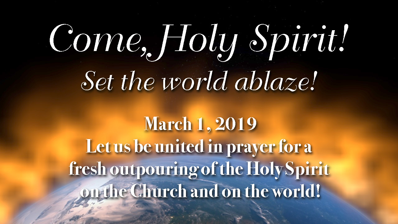 image relating to Come Holy Spirit Prayer Printable identify Countrywide Working day of Prayer 2019 Catholic Charismatic Renewal