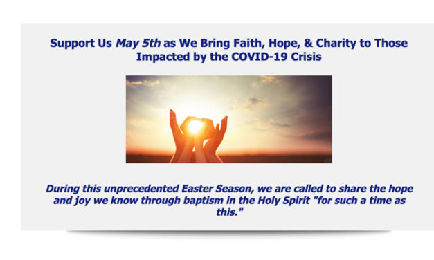 Giving Tuesday Now – May 5 2020